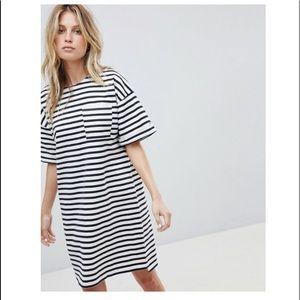 Whistles Amaka Striped T-Shirt Dress